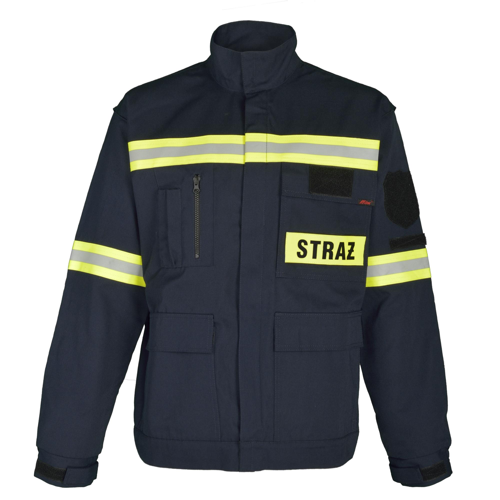 Station uniform of firefighter